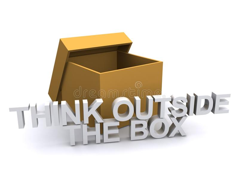 在箱子之外认为 向量例证