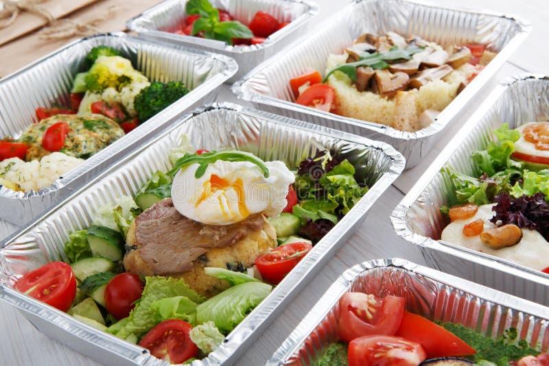 在箱子的健康食物,饮食概念 库存图片