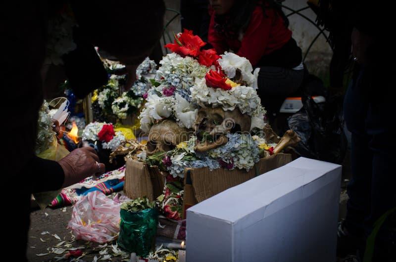 在箱子的死亡 免版税库存图片