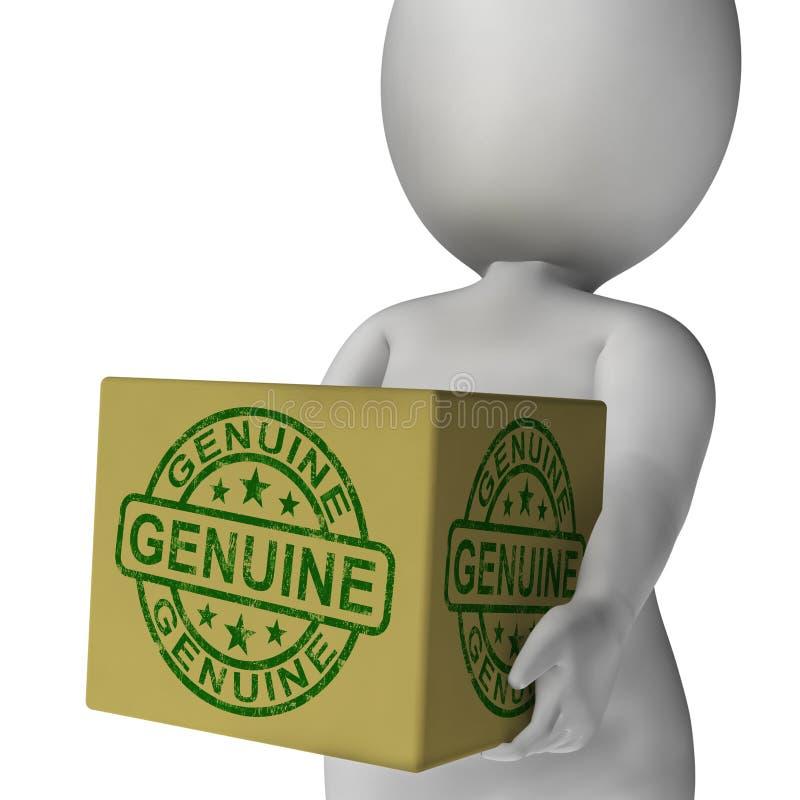 在箱子的真正邮票显示真正的合格产品 皇族释放例证