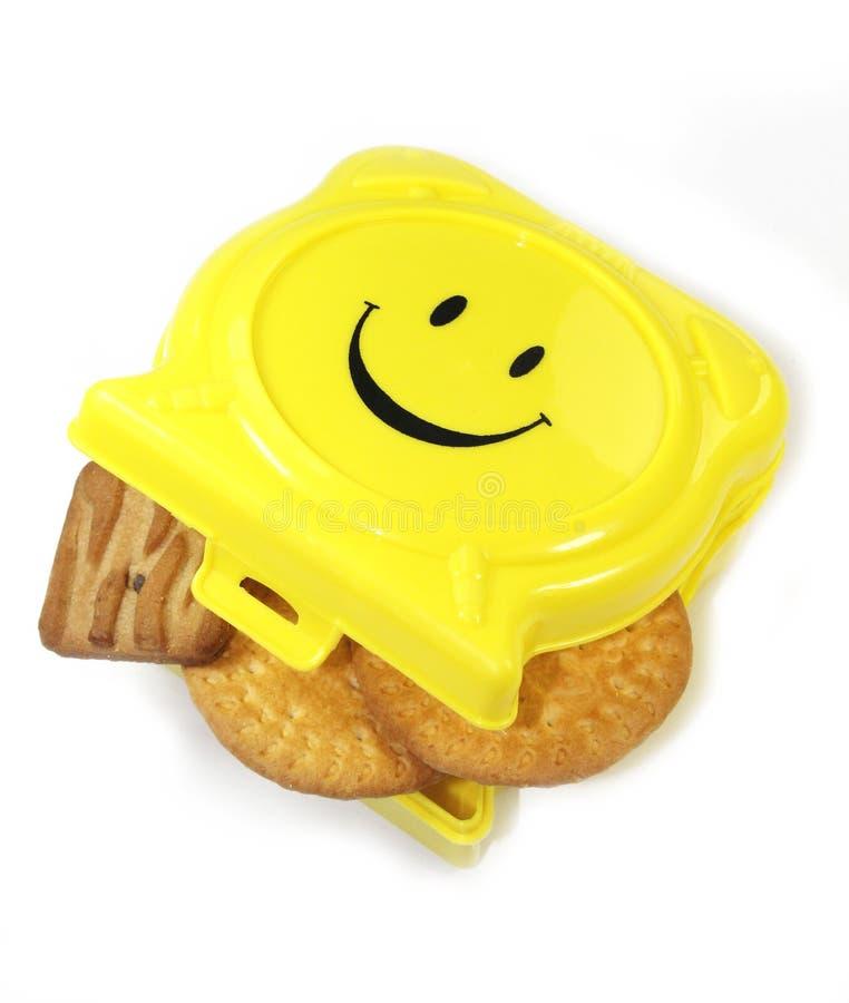 在箱子的饼干 免版税图库摄影