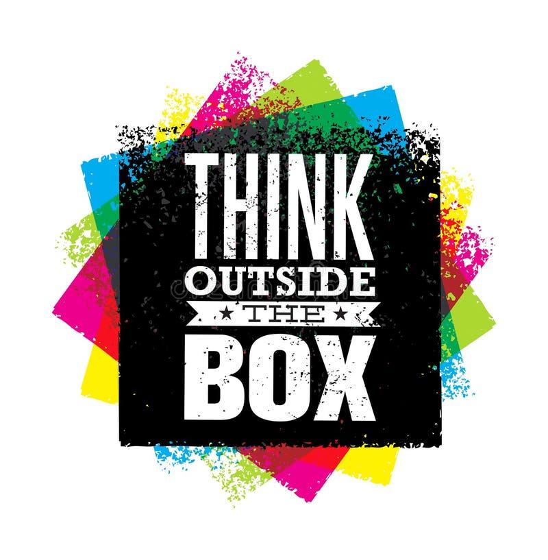 在箱子艺术性的难看的东西刺激创造性的字法构成之外认为 容易的设计编辑要素导航 向量例证