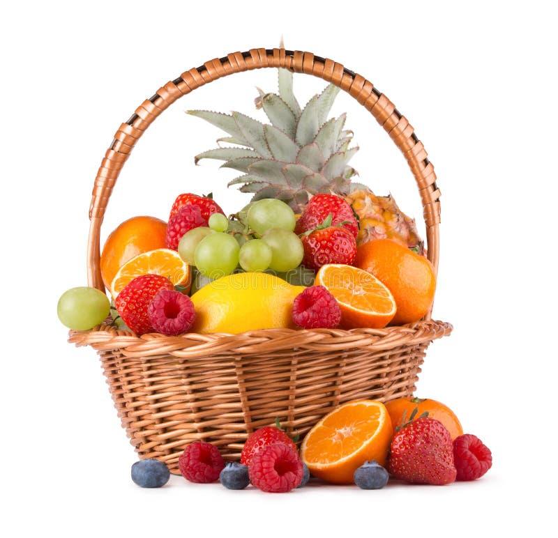 在篮子的果子 免版税库存图片
