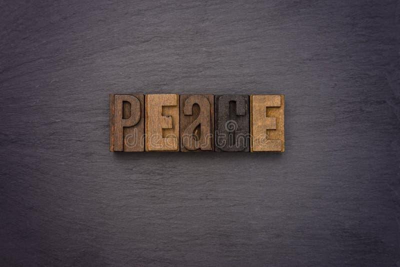 在类型明白解说的和平集合 图库摄影