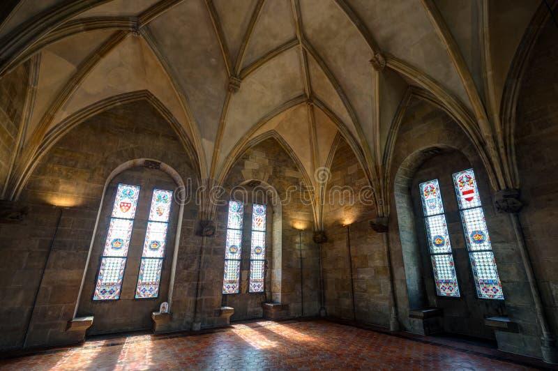 在粉末塔里面在布拉格 免版税库存照片