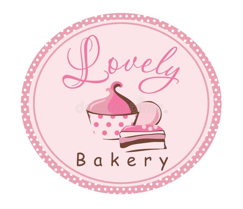 在粉红色的蛋糕 库存例证