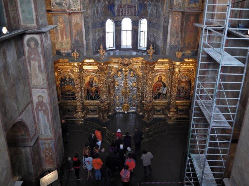 在索非亚大教堂游览 免版税库存图片