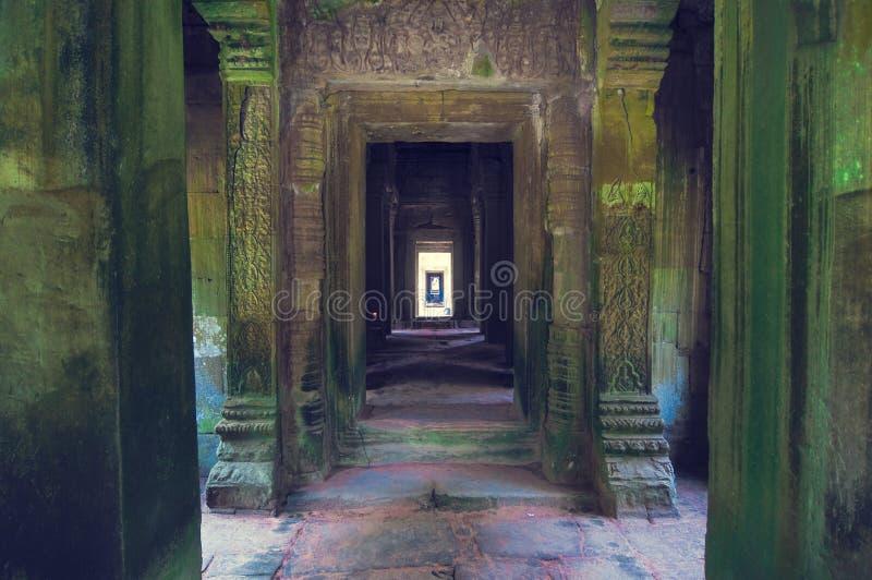 在索马里兰ta寺庙视图wat里面的angkor 库存照片