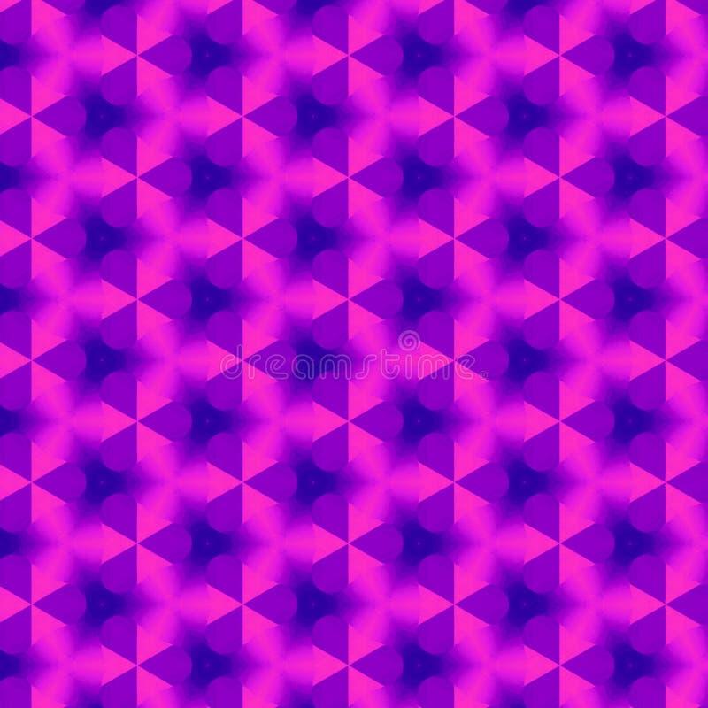 在紫外明亮的颜色的连续的样式纺织品或墙纸的 库存例证