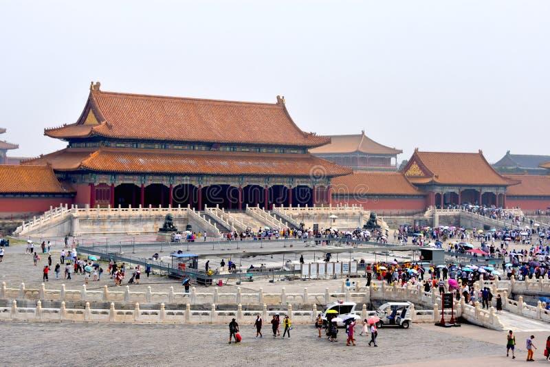 在紫禁城的好日子,北京,中国 库存照片