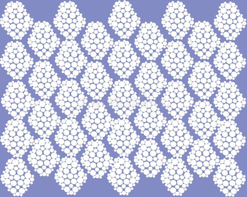 在紫色背景的美好的对称白色样式 库存例证