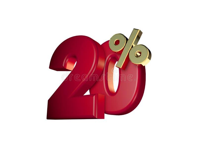 20%在红色和金子 库存照片