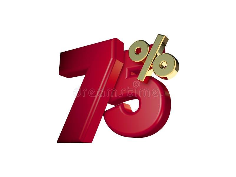 75%在红色和金子 免版税库存照片