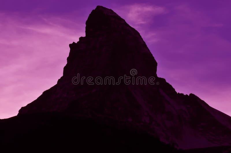 在红色天空的马塔角 图库摄影