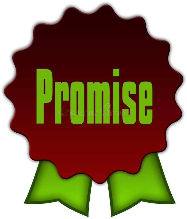 在红色封印的诺言有绿色丝带的 皇族释放例证