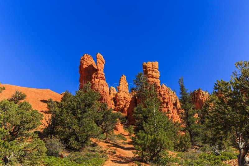 在红色峡谷的不祥之物在犹他,美国 库存图片