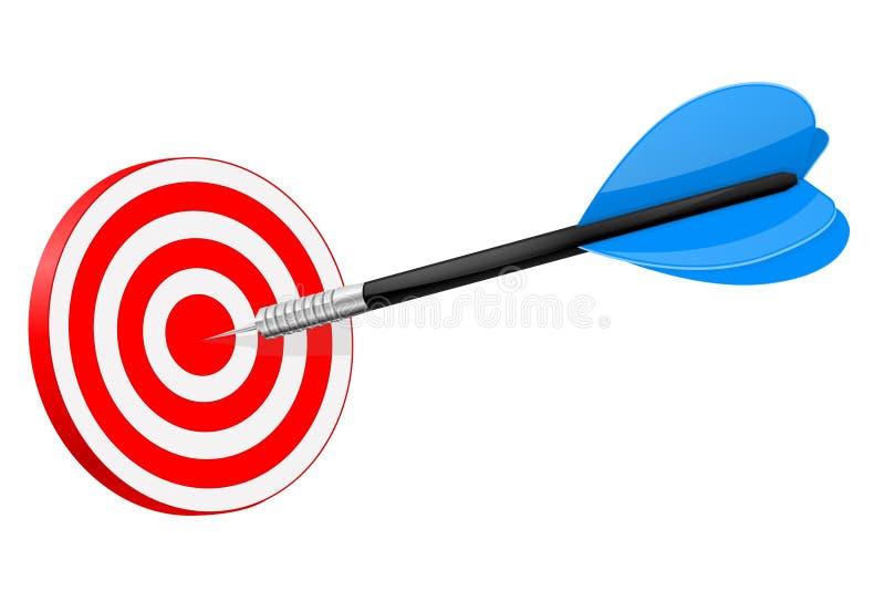 在红色掷镖的圆靶的箭 库存例证