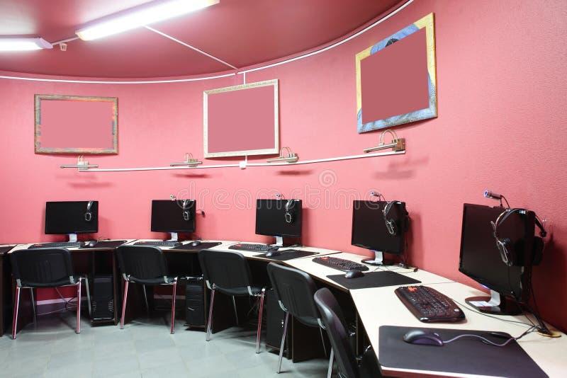 在红色样式内部计算机俱乐部 库存照片