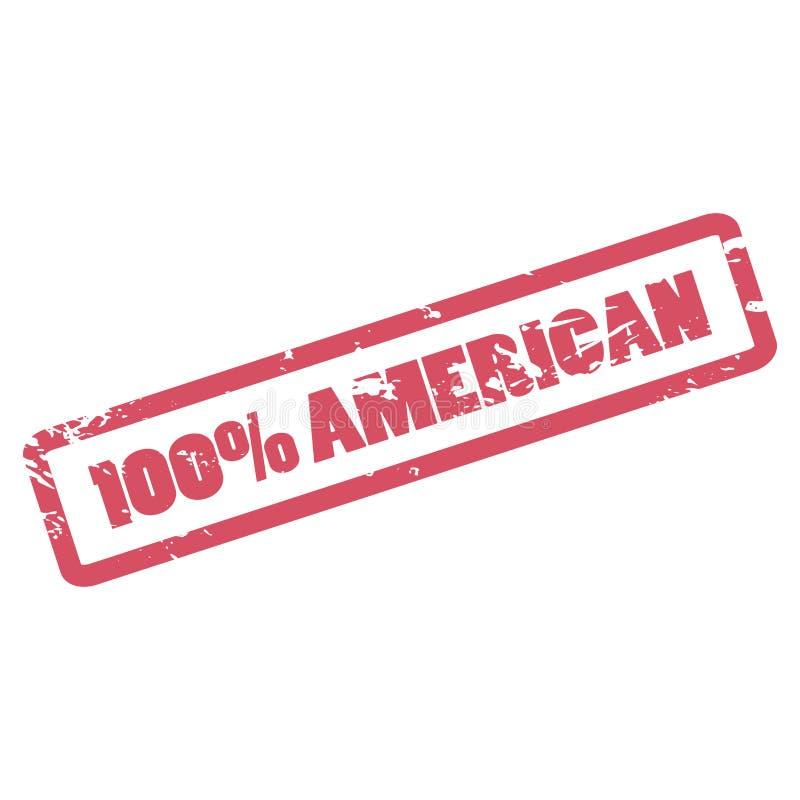 100%在红色框架的美国题字 百分之一百美国不加考虑表赞同的人 皇族释放例证