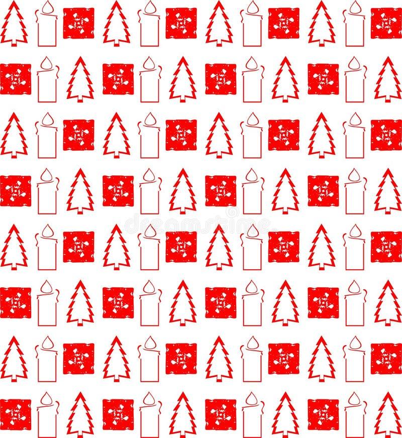 在红色的典雅的圣诞节纹理 库存例证