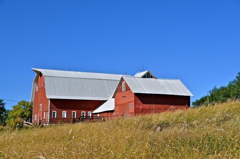 在红色的农庄 免版税库存照片