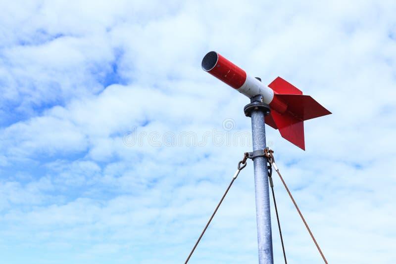 在红色的措施风向 图库摄影