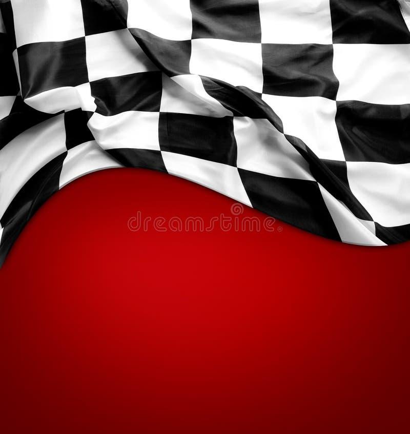 在红色的方格的旗子 库存照片