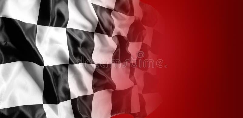在红色的方格的旗子 免版税图库摄影