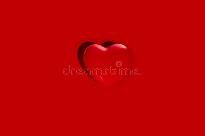 在红色的重点形状 免版税库存图片