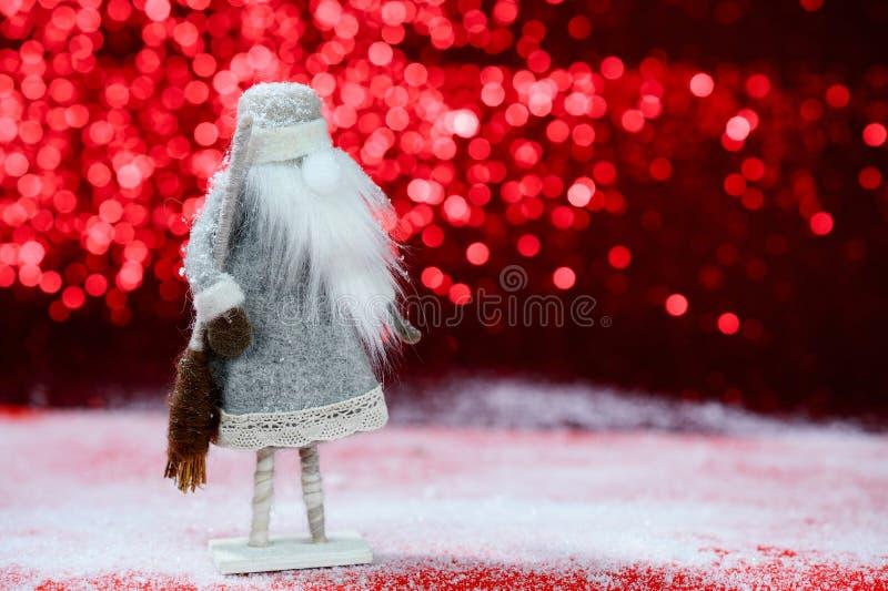 在红色背景的圣诞卡 库存照片