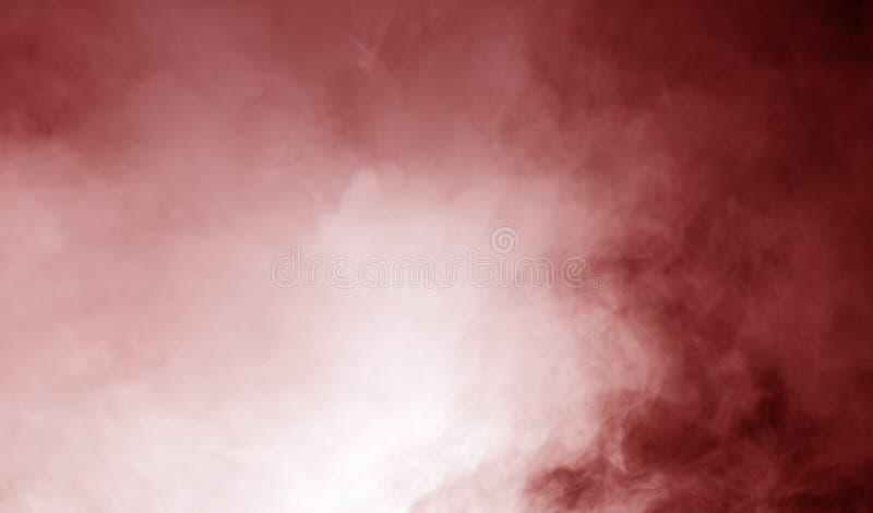 在红色背景的蒸汽 免版税图库摄影