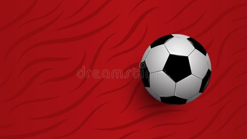在红色背景,橄榄球冠军杯子的现实橄榄球 向量例证