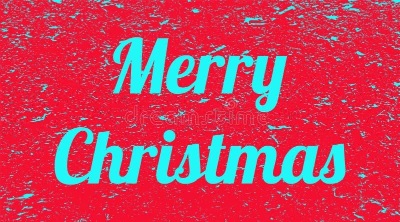 在红色难看的东西背景的题字圣诞快乐 r 向量例证