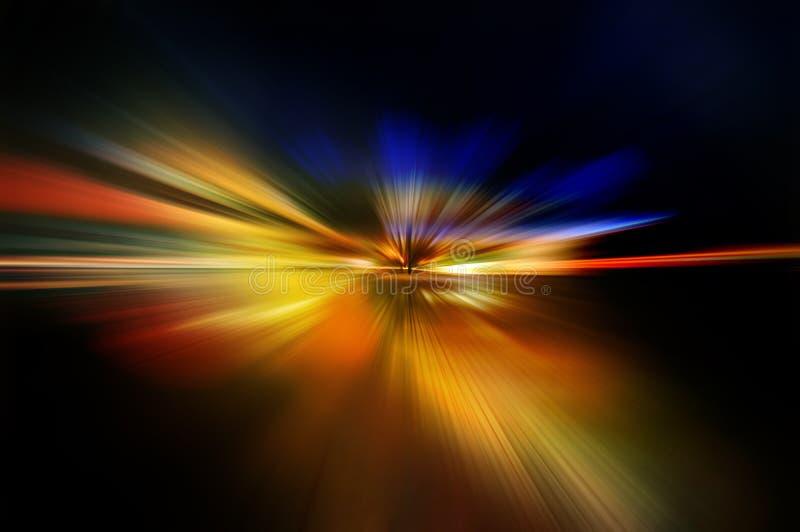 在红色,橙色,黄色和蓝色的抽象背景 向量例证