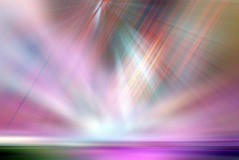 在红色,绿色,橙色,桃红色和紫色的抽象背景 皇族释放例证