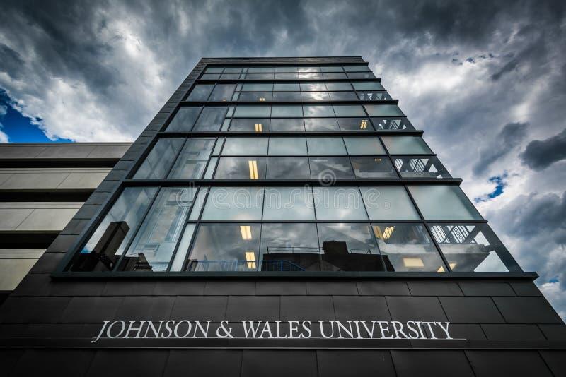 在约翰逊和威尔士大学的现代大厦,在上帝, 免版税库存图片
