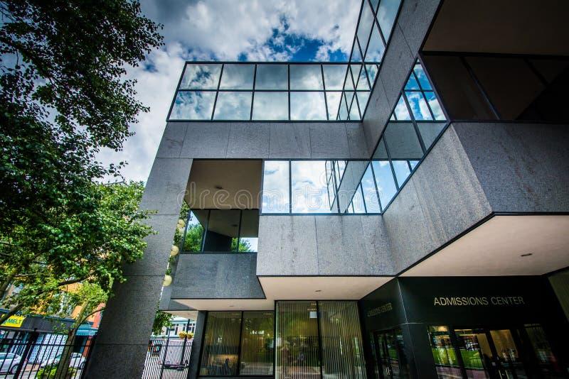 在约翰逊&威尔士大学的入场中心,在Providen 免版税库存图片
