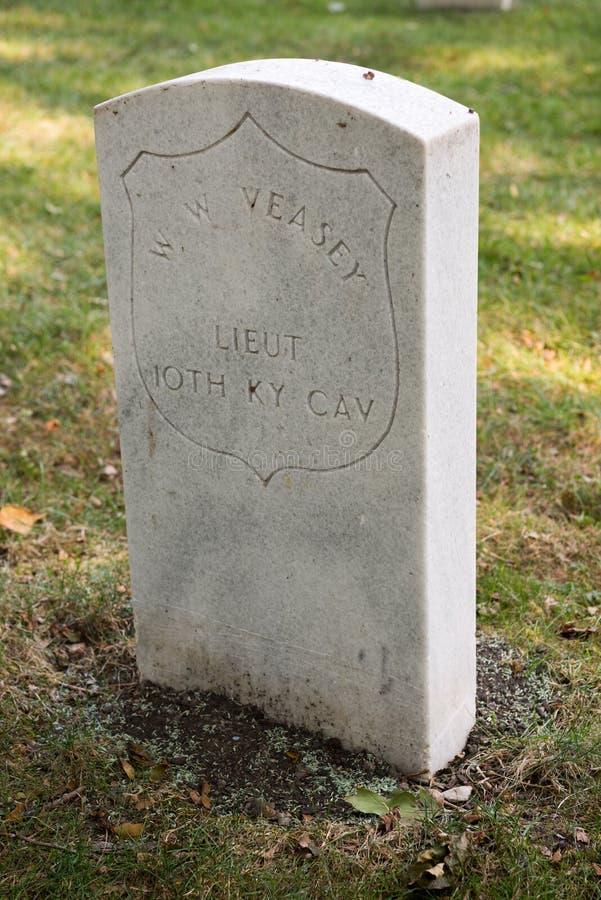在约翰逊` s海岛上的南北战争公墓 图库摄影