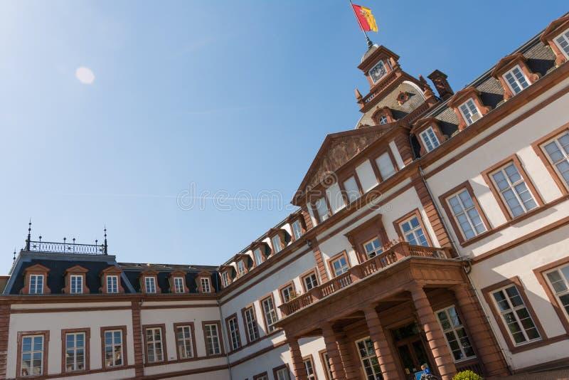 在纪念碑之外的城堡Philippsruhe哈瑙外部建筑学 库存照片