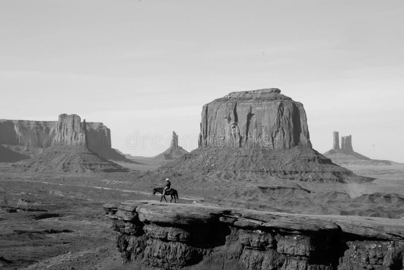 在纪念碑谷的约翰・福特点 库存照片