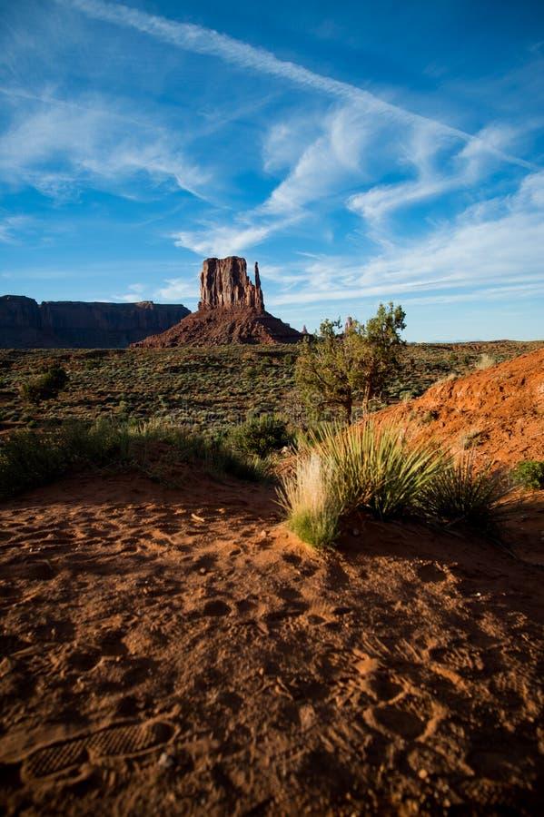 在纪念碑谷,亚利桑那,美国的看法 免版税图库摄影