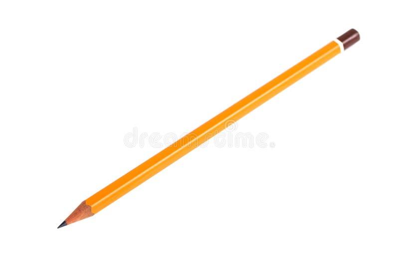 在纯净的白色背景的令人惊讶的被隔绝的铅笔 库存照片