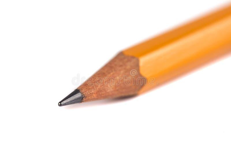 在纯净的白色背景的令人惊讶的被隔绝的铅笔 库存图片