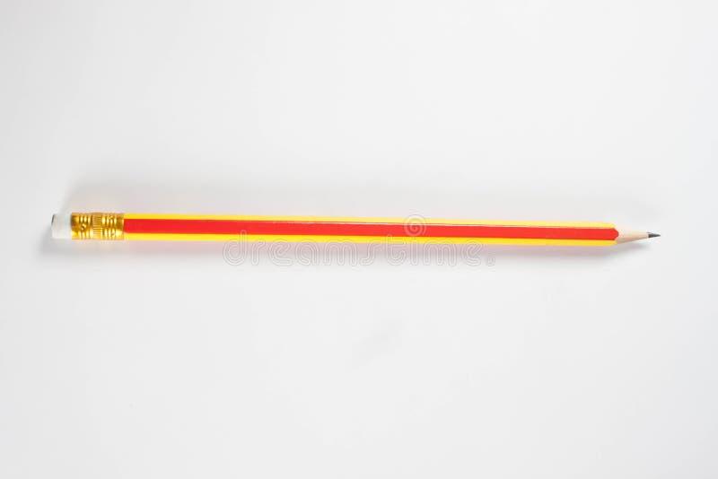 在纯净的白色背景的铅笔 免版税图库摄影