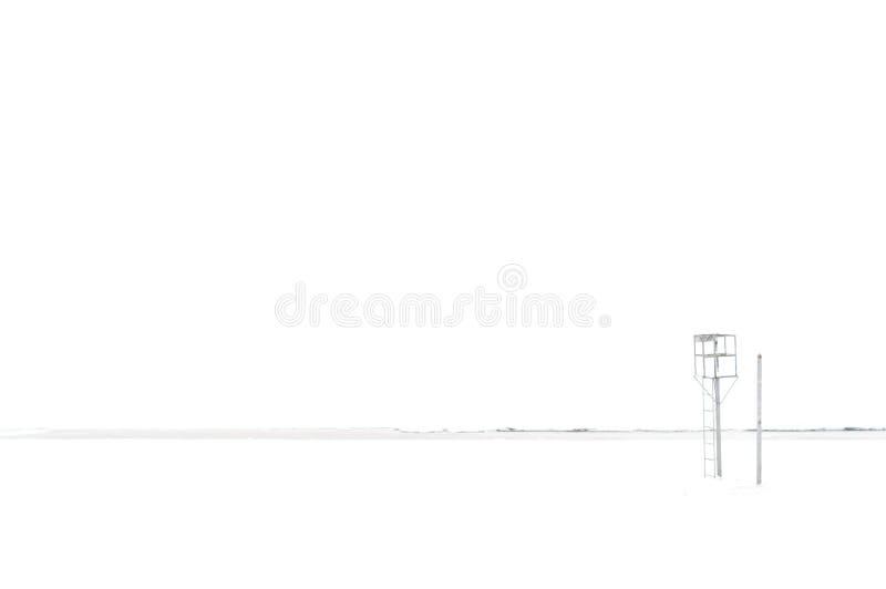 在纯净的白色背景隔绝的简单派视图 免版税库存照片