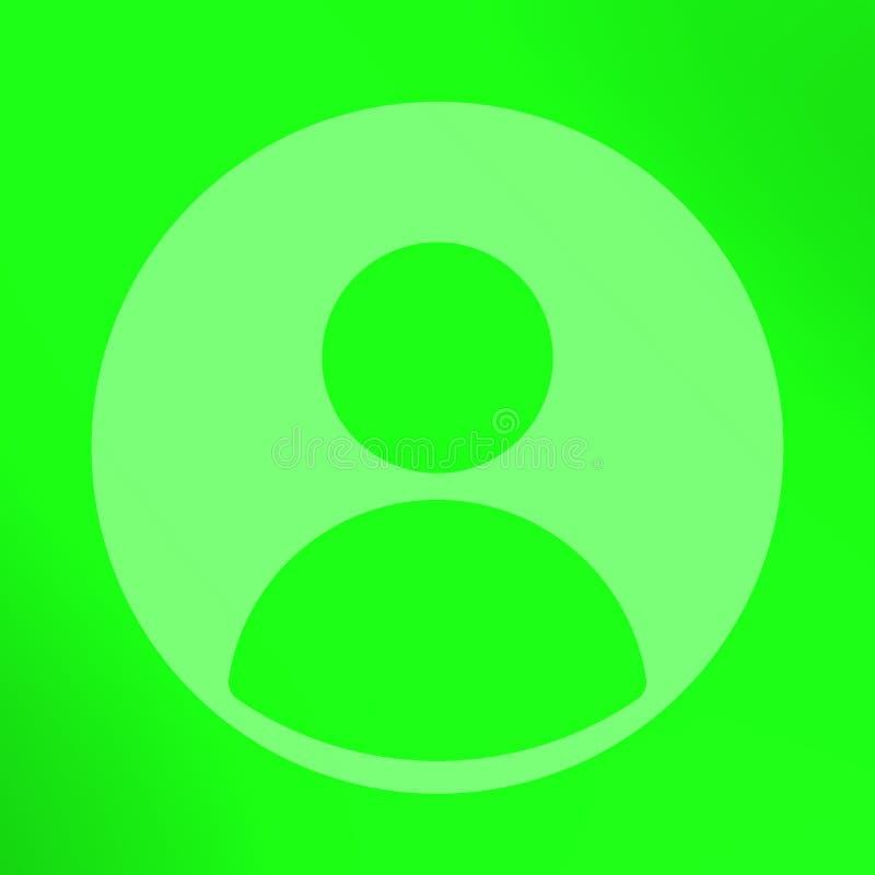 在纯净的绿色背景的社会外形 皇族释放例证