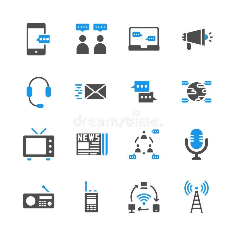 在纵的沟纹象集合的通信设备 r 库存例证