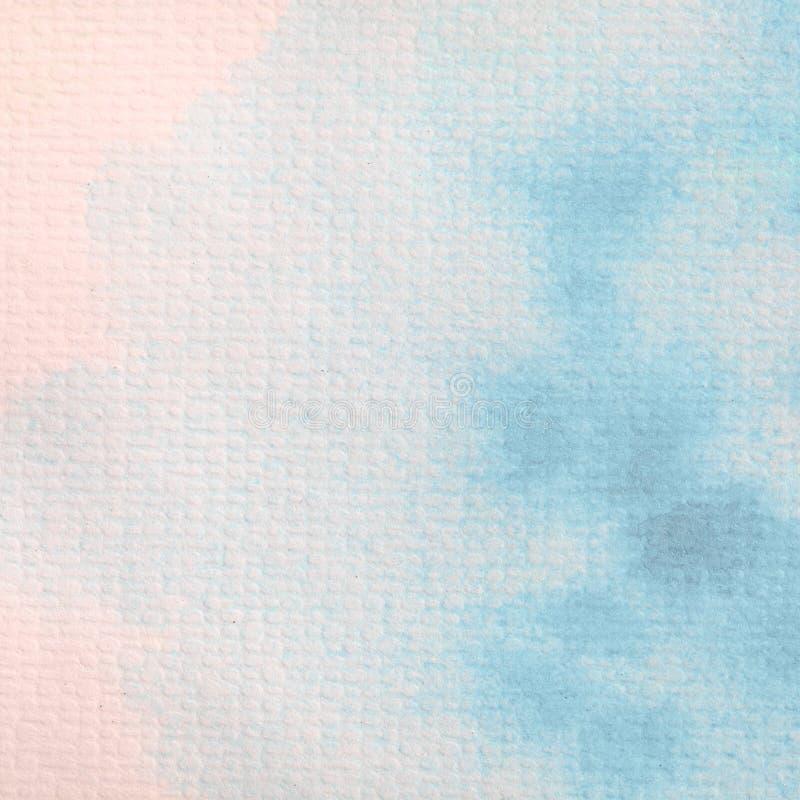 在纸张绘的抽象蓝色水彩 库存照片