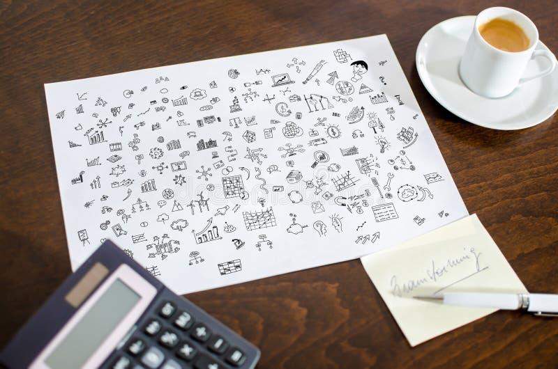 在纸的创造性概念 免版税库存图片