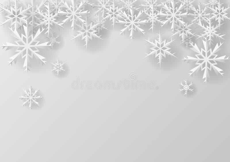 在纸的圣诞节雪花 皇族释放例证